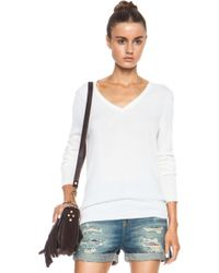 Equipment Cecile V Neck Cashmere Sweater - Lyst