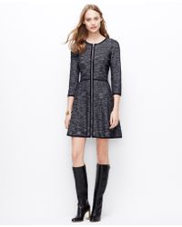 Ann Taylor Herringbone Sweater Dress - Lyst