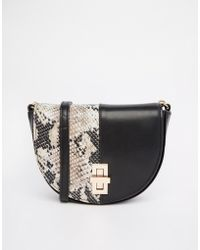 Asos Half Moon Cross Body Bag - Lyst