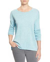 Halogen - Slit Back Nep Yarn Sweater - Lyst