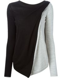 Ann Demeulemeester Blanche | Colour Block Sweater | Lyst