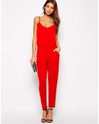 Lipsy - Jersey Jumpsuit With Cami Straps - Lyst