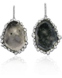 Kimberly Mcdonald - Diamond-trimmed Geode Earrings - Lyst