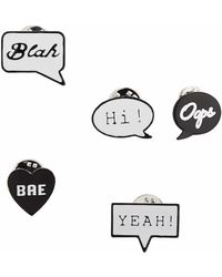 TOPSHOP - Heart And Speech Bubble Brooch - Lyst