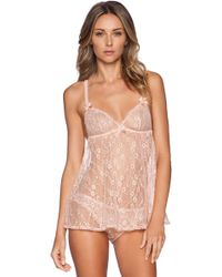 L'agent By Agent Provocateur Beige Monica Babydoll - Lyst