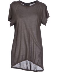 Theyskens' Theory T-Shirt brown - Lyst