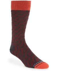 Hook + Albert - 'dizzy Lines' Socks - Lyst
