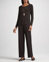 Eileen Fisher Straight-Leg Ponte Pants - Lyst