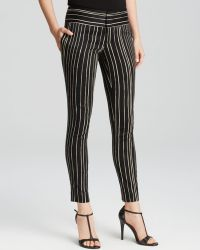 Alice + Olivia Pants - Slim Ankle Stripe - Lyst