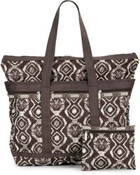 Lesportsac Brown Travel Tote - Lyst