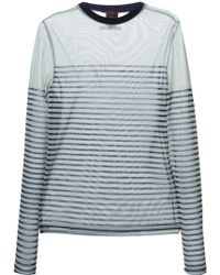 Jean Paul Gaultier Sheer Long Sleeve T-shirt - Lyst