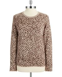 Vince Camuto Petite Zebra Print Pullover - Lyst