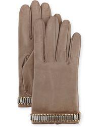 Portolano | Beaded Leather Gloves | Lyst