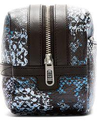Marc By Marc Jacobs - Blue Leather Rex Snake Martin Dopp Kit - Lyst