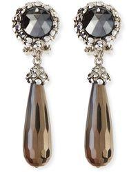 Jose & Maria Barrera Silvery Hematitedrop Clipon Earrings - Lyst