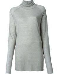 Haider Ackermann Loose Fit Turtle Neck Sweater - Lyst