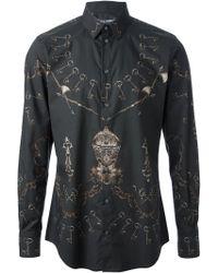 Dolce & Gabbana Key Print Shirt - Lyst