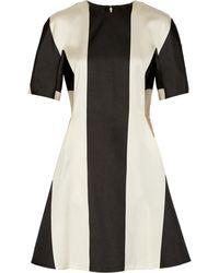 Stella McCartney Bianca Satintwill Mini Dress - Lyst