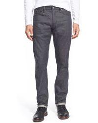 Jean Shop - Slim Fit Selvedge Jeans - Lyst