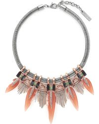 Vince Camuto Fringed Collar Necklace - Lyst
