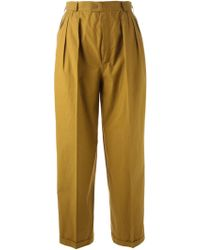 Yves Saint Laurent Vintage Cropped Trousers - Lyst