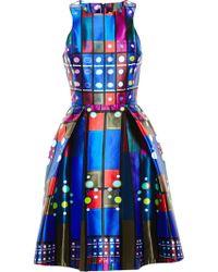 Peter Pilotto Geometric-Print Flared Dress - Lyst