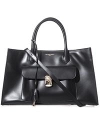 Balenciaga Padlock Work Large Leather Tote - Lyst