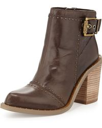Luxury Rebel Maggie Leather Bootie W/ Stud Accents - Lyst