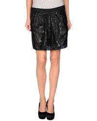 Balenciaga Black Mini Skirt - Lyst
