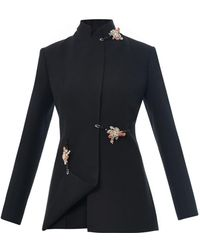 Christopher Kane Embellished Crepe Jacket - Lyst