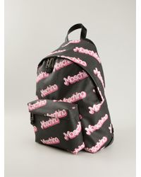 Moschino Logo Print Backpack - Lyst