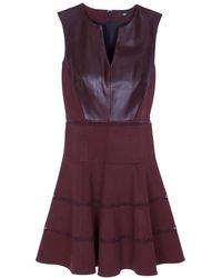 Tibi Leather Sleeveless Flirty Dress - Lyst