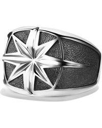 David Yurman Maritime North Star Signet Ring - Lyst