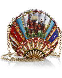 Dolce & Gabbana Multicolor Brocade Fan Crossbody Bag - Lyst