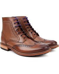 Ted Baker Mens Brogue Ankle Boot - Lyst