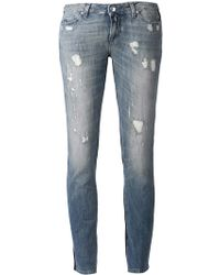 Iro Blue Distressed Jeans - Lyst