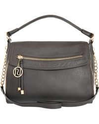 River Island Grey Fold Over Slouch Bag - Lyst