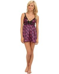 Betsey Johnson Sexy Satin Slip - Lyst