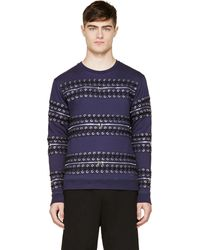 Hood By Air Navy Detachable Lace_up Sweatshirt - Lyst