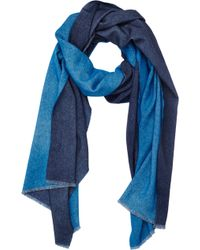 Barneys New York Doubleface Reversible Scarf - Lyst