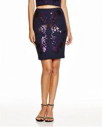 Cynthia Rowley | Sequin Applique Skirt | Lyst