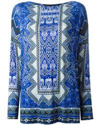 Etro Ethnic Print Longsleeve T-shirt - Lyst