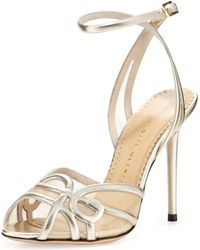 Charlotte Olympia Sugar High Leather Swirl Sandal - Lyst
