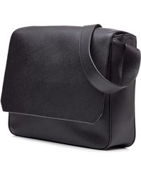 Valextra Leather Messenger Bag - Lyst