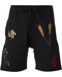 Bernhard Willhelm Embroidered Track Shorts - Lyst