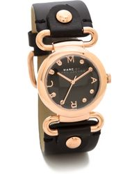 Marc By Marc Jacobs Molly Watch Rose Goldblack - Lyst