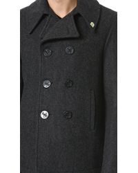 Gerald & Stewart - Wool Quilted Lined Peacoat - Lyst