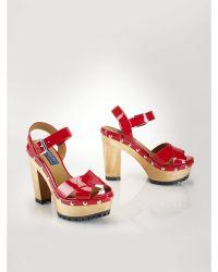 Polo Ralph Lauren Patent Leather Lacie Sandal - Lyst