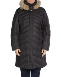 Marc New York By Andrew Marc Mercer Coyote-fur Trimmed Puffer Coat - Lyst