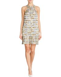 Emilio Pucci Embroidered Silk Cady Dress - Lyst